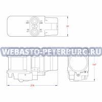 Габаритные размеры Webasto Thermo Top Evo Comfort+